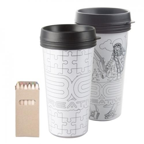 Kiszínezhető termo pohár