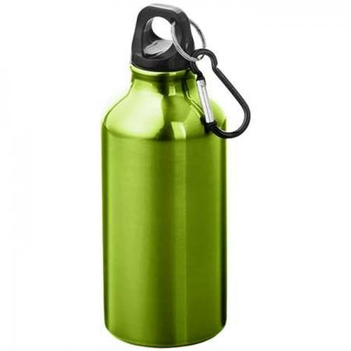 Alumínium kulacs karabinerrel-zöld
