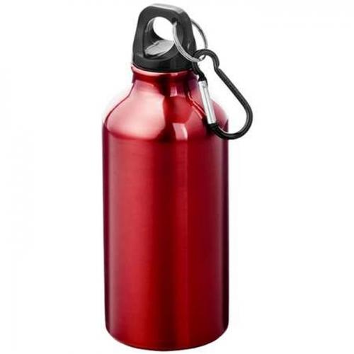 Alumínium kulacs karabinerrel-piros