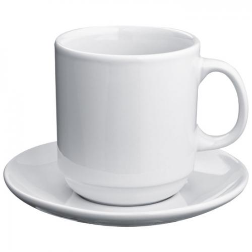 Fehér kávéscsésze szett
