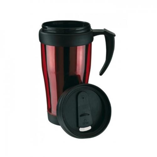 Műanyag hőtartó pohár, 400ml, piros