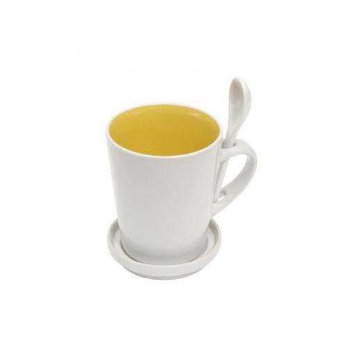 High five bögre szett sárga,fehér