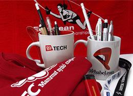 reklámajándékok: póló, bögre, toll, ceruza, nyakpánt,reklámajándék emblémázás